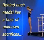 Behind each medal lies a host of unknown sacrifices.